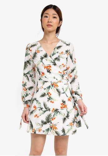 Something Borrowed white Tied Wrap Dress 6AEFCAA179179AGS_1