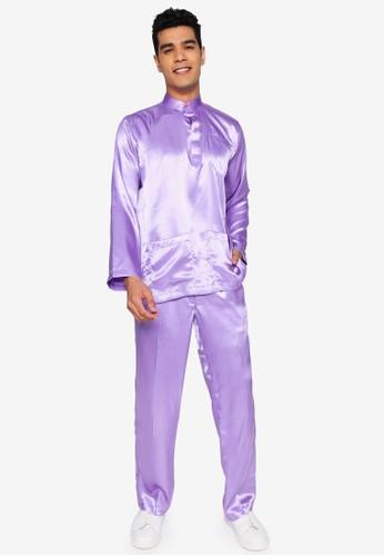 Gene Martino purple Traditional Baju Melayu ABA29AA6374F53GS_1