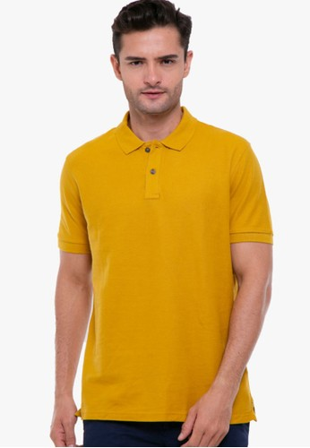 MARKS & SPENCER yellow Pure Cotton Polo Shirt FB29EAA66C5C85GS_1