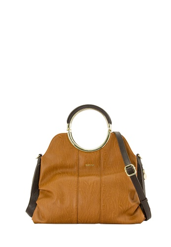 SEMBONIA brown SEMBONIA Synthetic Leather Satchel Bag (Brown) 55165ACB793F53GS_1