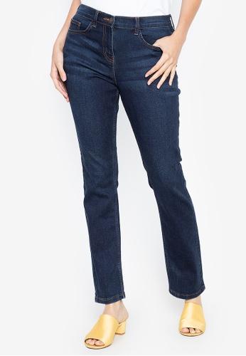DEBENHAMS blue The Collection - Cc Mid Rise Straight Jean 3E349AA381F506GS_1