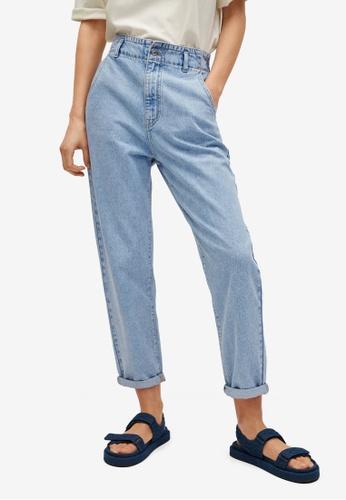 Mango blue Waist Straight Slouchy Jeans 7A693AAFE45A39GS_1