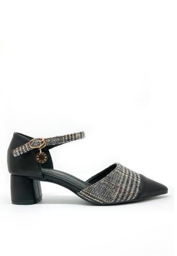 Twenty Eight Shoes black Check Pattern Mid Heels 1802-5 3EA99SH15C5A28GS_1