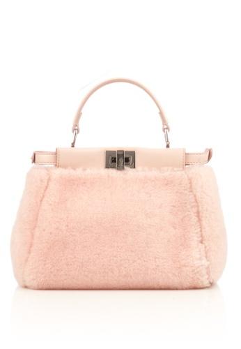 Fendi 粉紅色 喜爱的 粉色微羊皮皮手提包 1910EACD8954C4GS_1