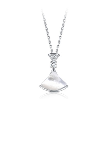 Glamorousky white 925 Sterling Silver Fashion Small Skirt Pendant with Austrian Element Crystal and Necklace E0F9BACA4B35B2GS_1
