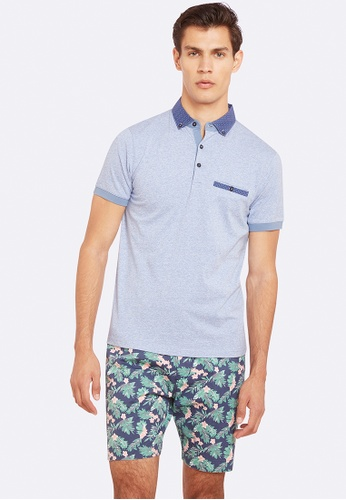Oxford blue Archie Polo OX512AA0HBTHSG_1