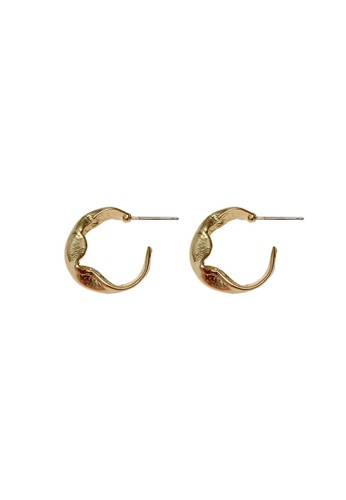 TOUGO gold Nellore Hoop Earrings in Gold 9A4F9AC7C9C7C5GS_1