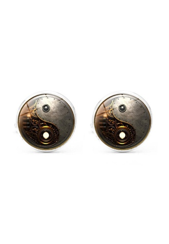 Kings Collection silver Silver Vintage Style Cufflinks (KC10192) 2E231ACB92EE36GS_1