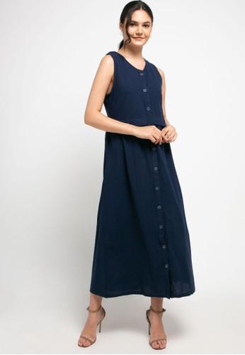 novel.mice blue Angel Crepe Sleeveless Dress 57BF0AAF88ACFEGS_1