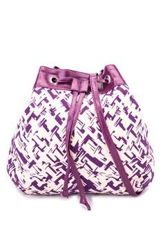 Purple Paint Drawstring With Band