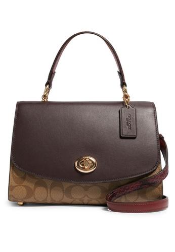 Coach brown Tilly Top Handle Satchel Bag (cv) EE466AC7555158GS_1