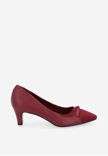 """Carlo Rino 紅色 Maroon 2"""" What A Catch Pumps D27EASH2940558GS_1"""