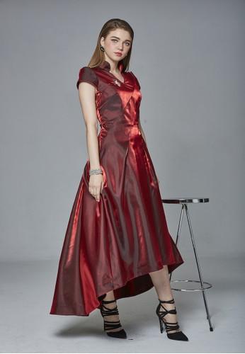 女皇中國風改良式前短後長旗袍,esprit hk分店 服飾, 晚宴禮服