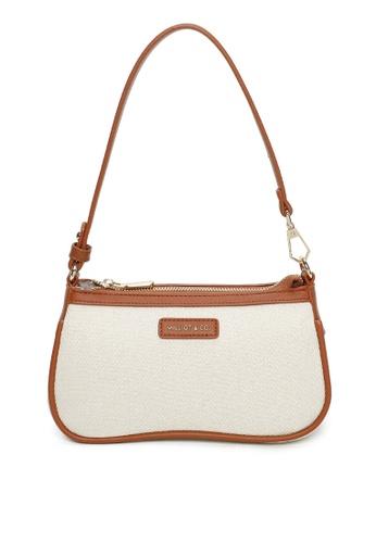 Milliot & Co. brown Yuri Shoulder Bag B01D4ACC1267FDGS_1