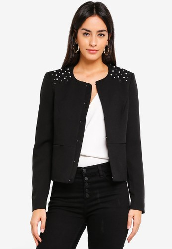 Vero Moda black Glam Short Jacket DC228AAB5CEAB7GS_1