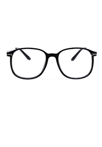 Kyfer's Eyewear & Essentials black Oversized Angular Frame KY376AC75PUMSG_1