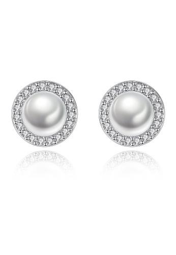 A.Excellence white Premium White Pearl Elegant Earring E7458AC0BF7721GS_1