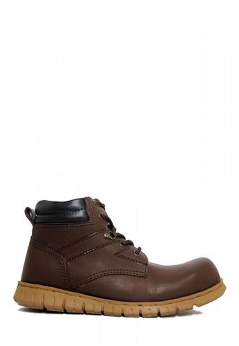 D-Island brown D-Island Shoes Safety Boots High Urban Dark Brown BC2B5SH3DA917AGS_1