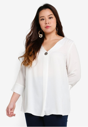 2019 clearance sale best price choose latest DP Plus Size White Shirt