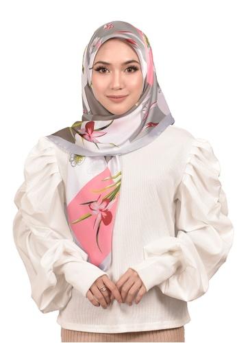FATIMÉ 多色 緞面方形頭巾竹(粉紅色) 1E4AFAA0A8F3FEGS_1