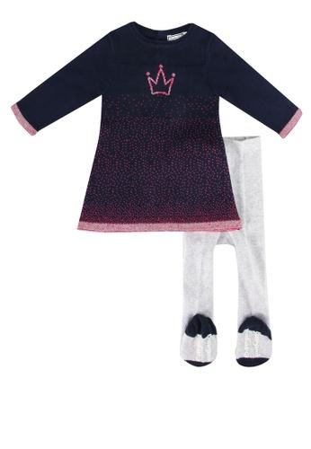 Babybol navy Baby's Dress And Tights Set 3FF68KA0340814GS_1