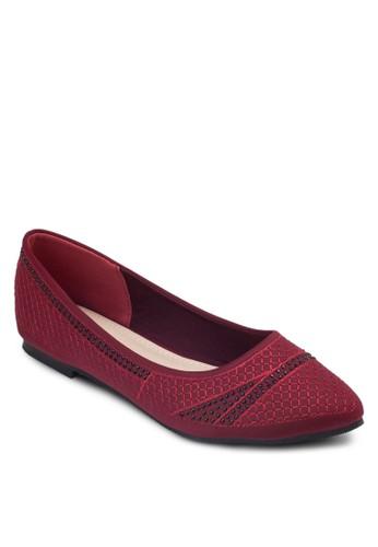 閃飾尖頭esprit官網平底鞋, 女鞋, 芭蕾平底鞋