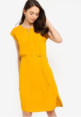 Basic Midi Dress With Side Slits