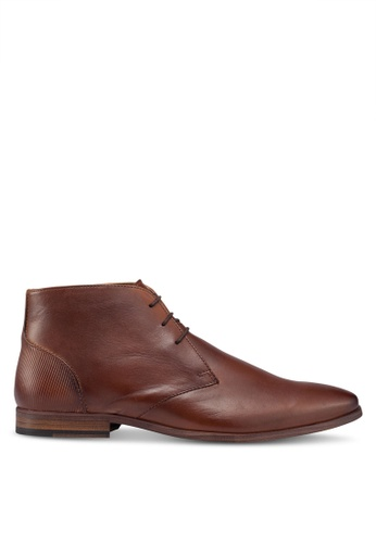 Topman brown Tan Delta Chukka Boots B6055SH3377CCAGS_1