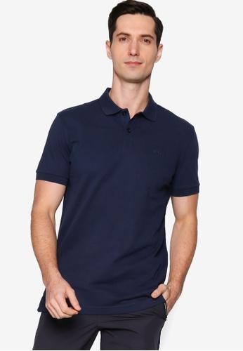 BOSS navy Piro Polo Shirt 837B9AAEFEE972GS_1
