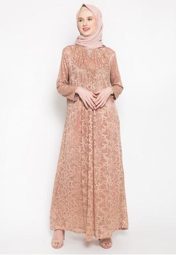 Kasa Heritage brown and bronze Harper Dress - Bronze FB261AA94A4F7DGS_1