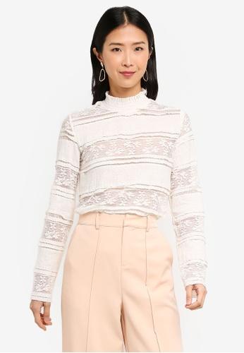 59cdd19914a270 Buy Vero Moda Thea Lace Top Online on ZALORA Singapore