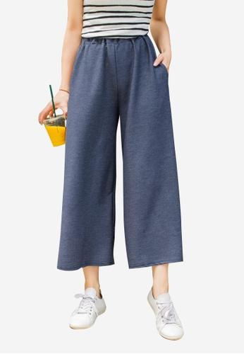 Sesura navy Casual Comfort Wide Pants 56074AA00C364CGS_1
