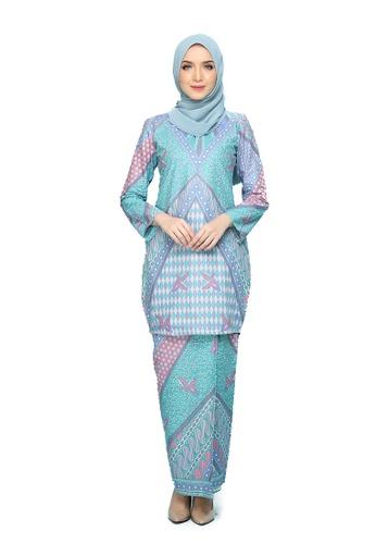 Kurung Indra from Seri Maharani in green_1