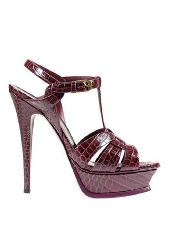 SAINT LAURENT 紅色 SAINT LAURENT/ 聖羅蘭TRIBUTE高跟涼鞋 68F1ASHC0DBB88GS_1