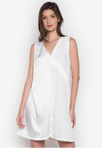NEW ESSENTIALS white Dennis Lustico A-Line Dress NE239AA0JD1VPH_1