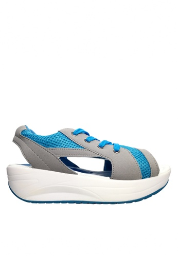 Twenty Eight Shoes 藍色 網布綁帶搖搖涼鞋 VC2717 4E325SH1828EC9GS_1