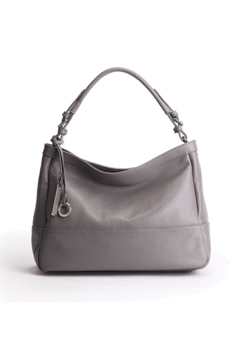 Twenty Eight Shoes grey VANSA Pebbled Top Layer Cowhide Tote Bag VBW-HB6024 D516EAC8D78DE8GS_1