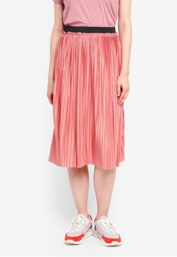 JACQUELINE DE YONG pink Asymic Skirt B1F00AA644ABC5GS_1