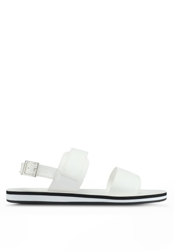 ZALORA white Faux Leather Sandals 5E4C9SH72D4B6FGS_1