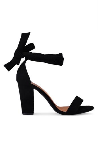 Rubi black San Monroe Tie Up Heels 642BCSHBA8B509GS_1