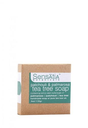 Sensatia Botanicals n/a Sensatia Botanicals Patchouli & Palmarosa Tea Tree Soap - 25 gr 97C57BEAC9B906GS_1