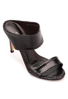 Snakeskin Slip On Heels