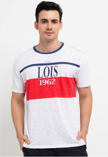 Lois Jeans white Jersey Slub T-Shirt AA4C7AA1F7170EGS_1