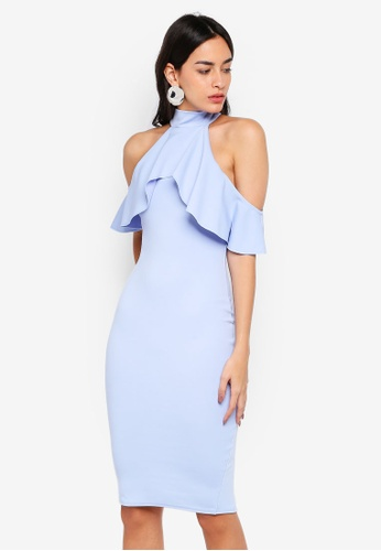 Shop MISSGUIDED High Neck Frill Midi Dress Online on ZALORA Philippines 71bb4ec51