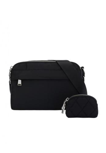 Parfois black Nylon Crossbody Bag 9295CAC0F36D25GS_1