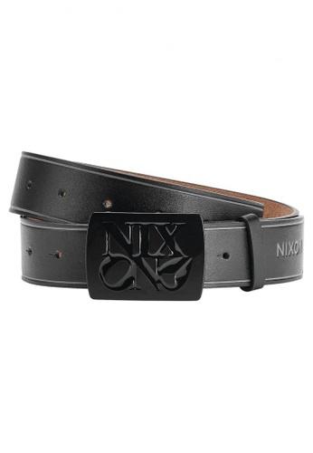 Nixon black and brown Nixon - Enamel Philly Belt Black NI855AC30EGJSG_1