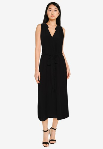 Gap black Zen Sleeveless Midi Dress 0ECFDAA689E25DGS_1