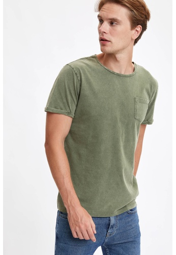 DeFacto green Man Knitted T-Shirt 308F5AA7971F68GS_1