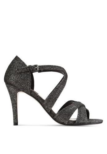 Dorothy Perkins black and silver Pewter Niscos Becca Mid Heels DO816SH41TXYMY_1