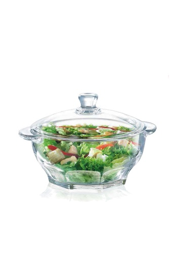 Luminarc Luminarc 2500ML Fully Tempered Granity Glass Casserole with Lid / Food Storage Bowl / Serveware / Microwave Friendly / Tempered Glass 7E22AHL769B741GS_1